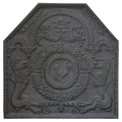 Plaque de cheminée louis 13  Représentant...