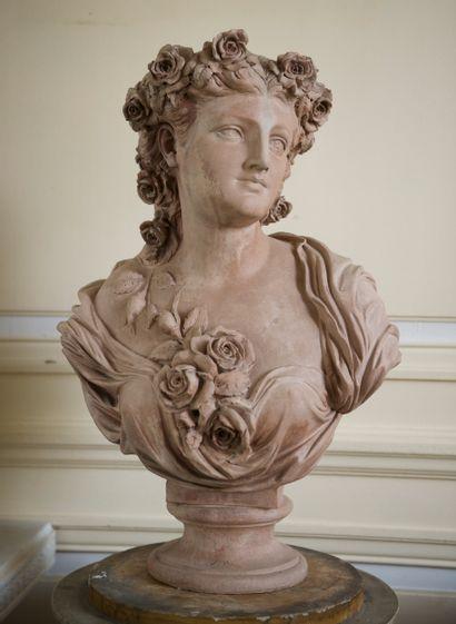 Buste de Flore  Par Jean-Baptiste CLÉSINGER...
