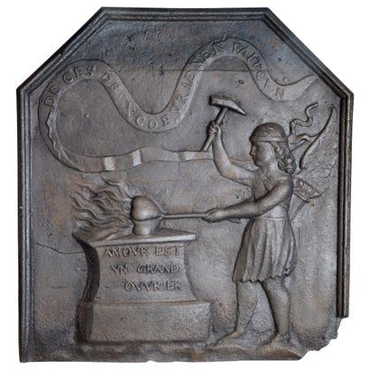 Plaque de cheminée Louis 14  Représentant...
