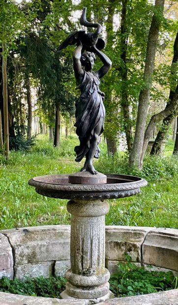 Fontaine style Renaissance  Composée d'une...