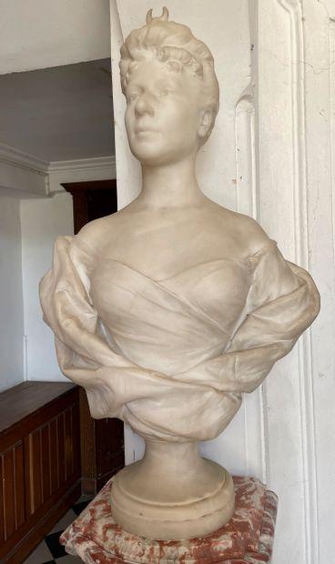 Diane chasseresse  Buste en marbre à l'image...