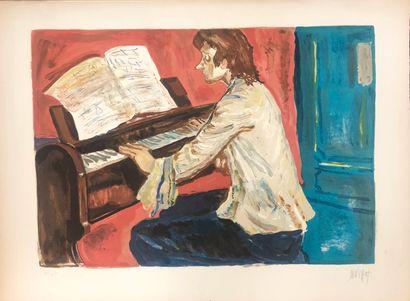 Gabriel DAUCHOT (1927-2005)  LE PIANISTE...