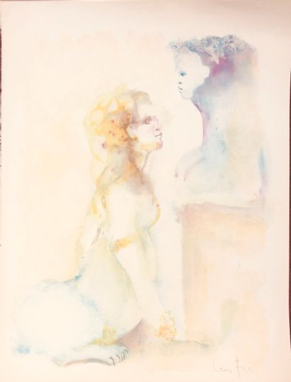 Léonor FINI (1907-1996)  Sphinges  Lithographie...
