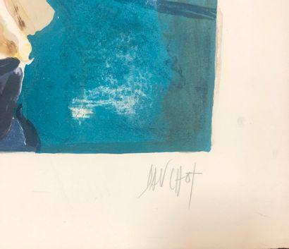 Gabriel DAUCHOT (1927-2005)  LE PIANISTE  Lithographie signée en bas à droite, Justifiée...