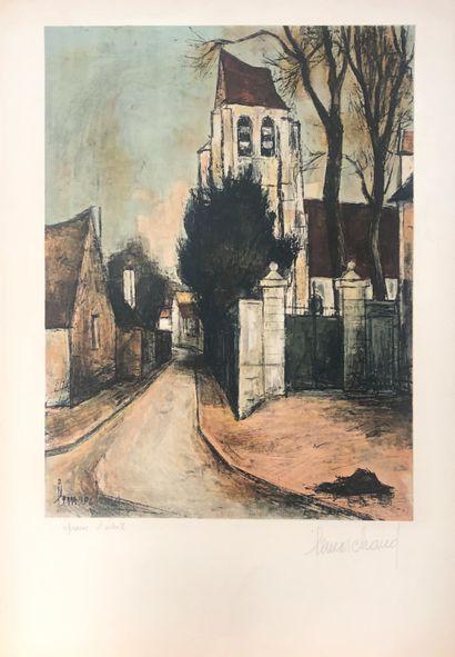 LEMARCHAND  Ruelle de village  Lithographie...