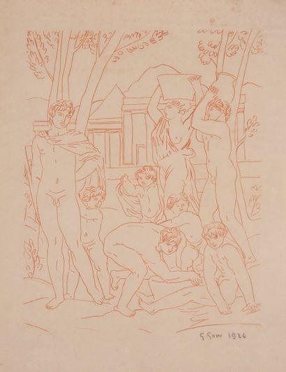 Gaston GOOR (1902-1977)  Gravure à la manière...
