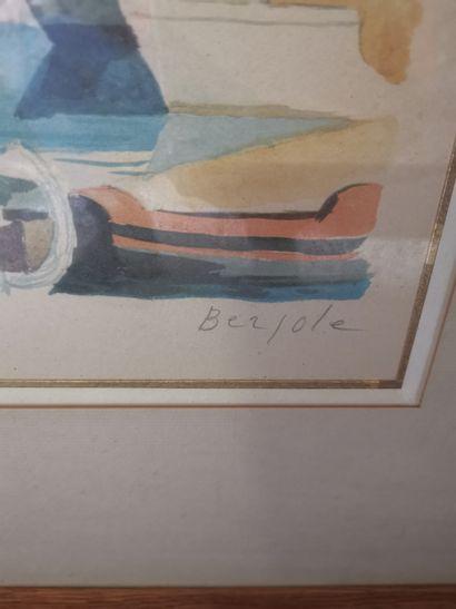 Pierre BERJOLE – 1897-1990  port  Lithographie signée et justifié Epreuve d'artiste...