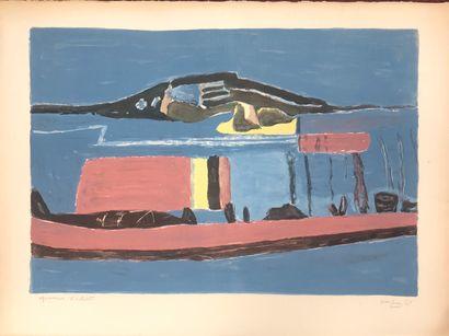 Henri Hayden (1883-1970)  paysage bleu  Lithographie...