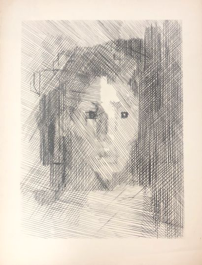 Ecole moderne  Portrait  Lithographie  65...