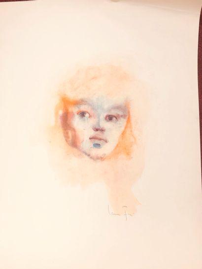 Léonor FINI (1907-1996)  Portrait  lithographie...