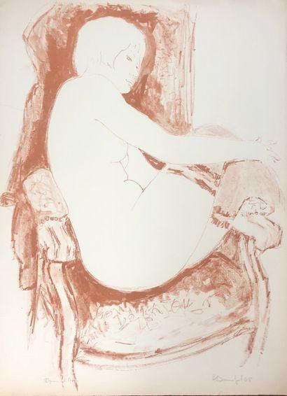 Alain BONNEFOIT (Paris 1937)  femme dans...