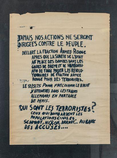 Affiche de propagande des brigades rouge...