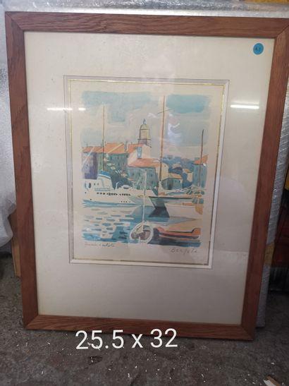 Pierre BERJOLE – 1897-1990  port  Lithographie...
