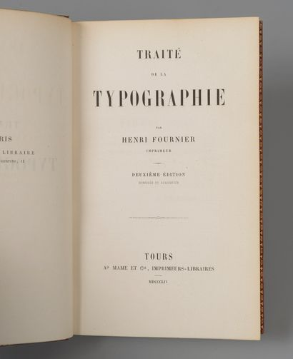 FOURNIER (Henri). Traité de la typographie....