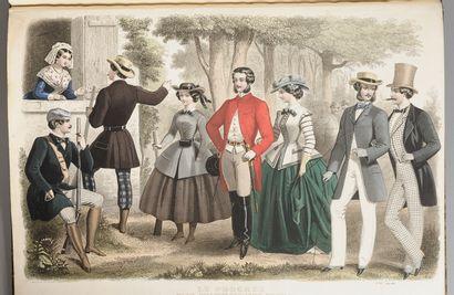 MODE. 1853-1857. In-folio, demi-mar. brun,...
