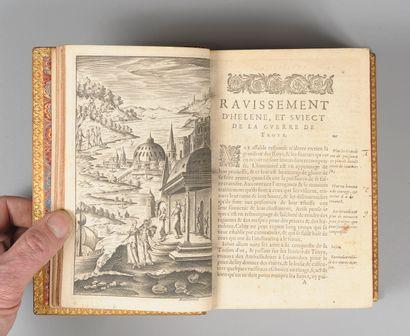 HOMÈRE. L'Iliade et l'Odyssée. (S.l.n.d.)]. XVIIe s. Fort in-8, (11) ff. sur 12,...
