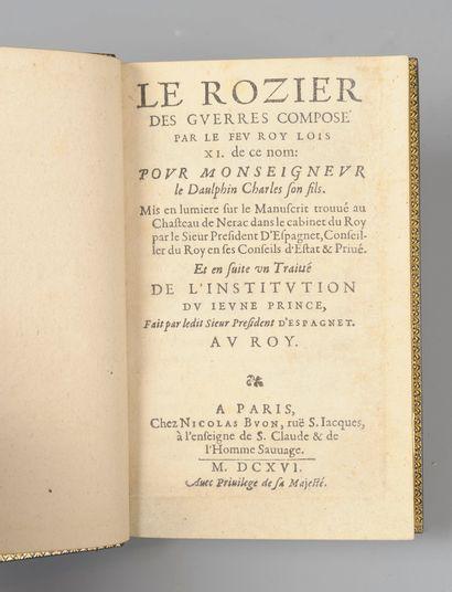 CHOINET (Pierre) attribué à]. Le Rozier des guerres composé par le feu roi Louis...