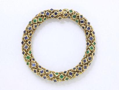 VERNEY attribué à  Bracelet articulé en or...