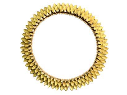 Collier collerette articulée en or 750 millièmes...