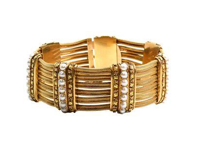 Bracelet souple en or 750 millièmes composé...