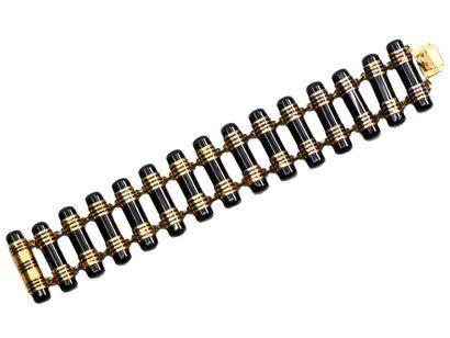 Bracelet articulé en or 750 millièmes composé...