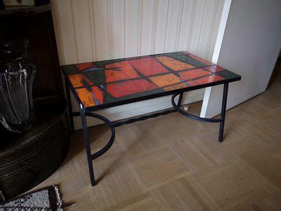 Ensemble de deux tables basse en métal et...