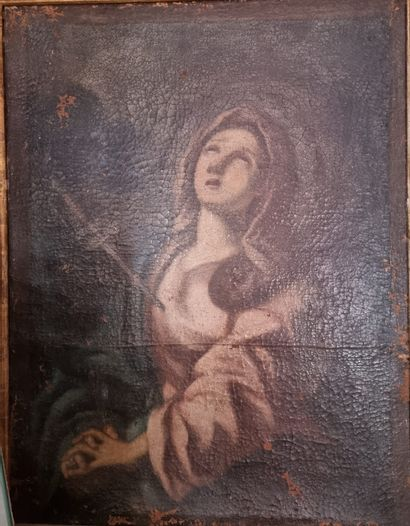 Attribué à Frère LUC  (1615 - 1685)  Vierge...