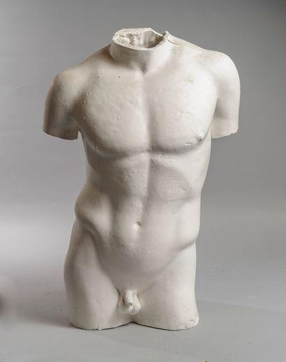 Plâtre d'atelier  Buste d'homme  H : 62 ...
