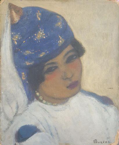 André SUREDA (1872-1930) Portrait de femme...