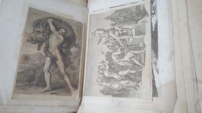 Lot de gravures et lithographies.