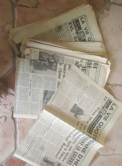 Coupure de Presse, L'AURORE. La vie quotidienne...