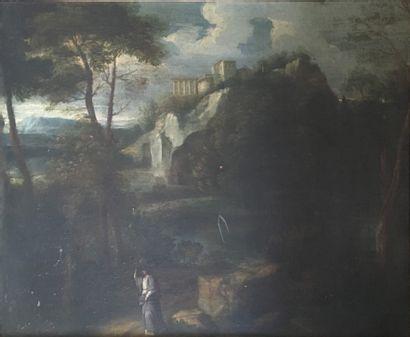 Ecole Française du XVIIe siècle, Paysage...