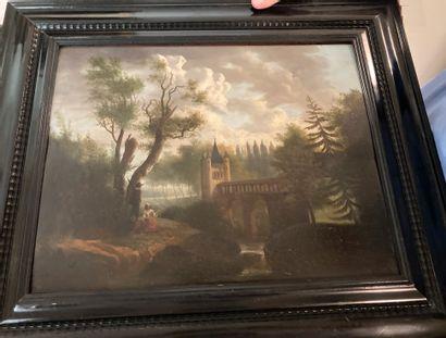 Ecole Allemande du XVIIIe siècle  Paysage...