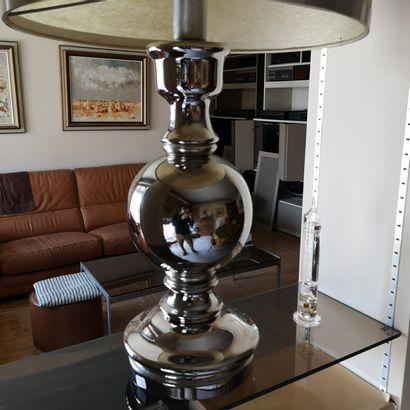 Lampe balustre en céramique émaillé à immitation...