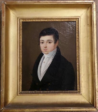 LEGENVRE  (Actif vers 1820)  Portrait d'homme...