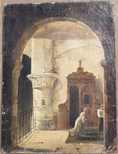 Ecole FRANCAISE du XIXème siècle, suiveur...
