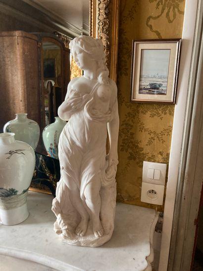 A. Bartel, Allégorie, Sculpture en marbre,...
