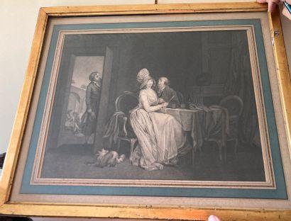 Louis-Léopold BOILLY (1761-1845)  Couple...