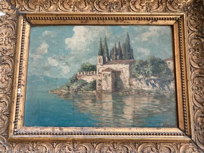 Ferdinando SILVANI (1823-1899)  Villa sur...