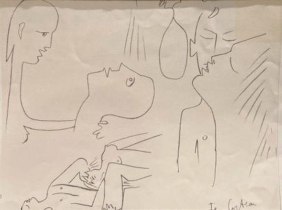 Jean Cocteau (1889-1963)  Les amoureux, 1957...