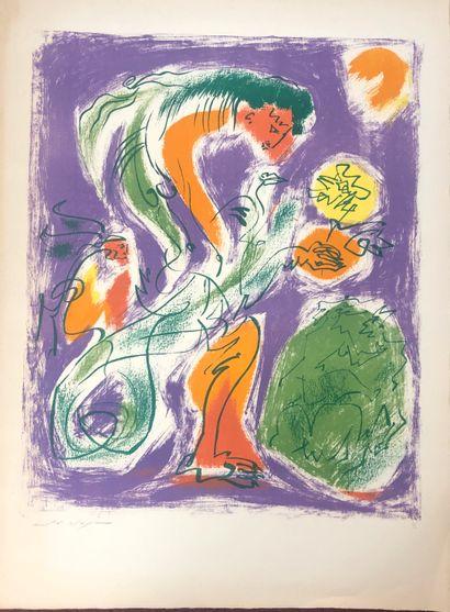 André MASSON (1896-1987)  Chimère  Lithographie...