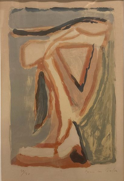 Bram VAN VELDE (1895-1981)  Composition  Lithographie...