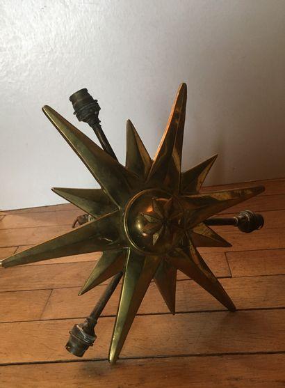 Lustre de synagogue en bronze doré