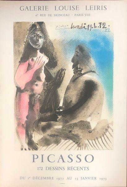 Une affiche Picasso, Galerie Louise Leiris,...