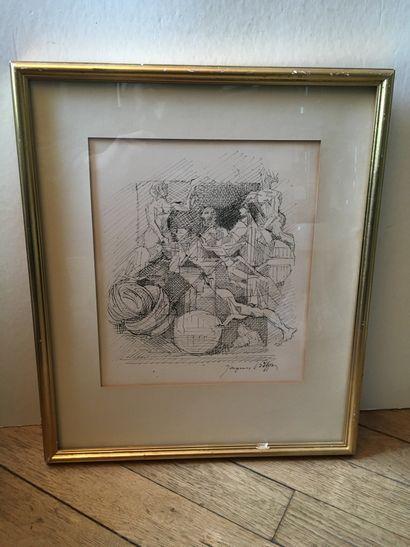 Jacques VILLON (1875-1963)  Orchestre  Lithographie...