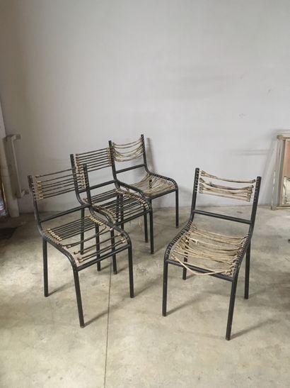 D'après René HERBST (1891-1982)  Quatre chaises...