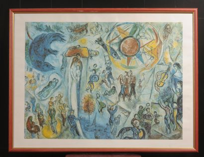 D'après Marc CHAGALL  Reproduction.  50 x...