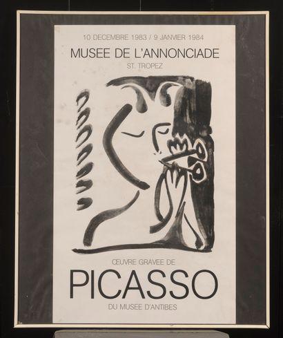 Affiche Picasso, musée d'Antibes