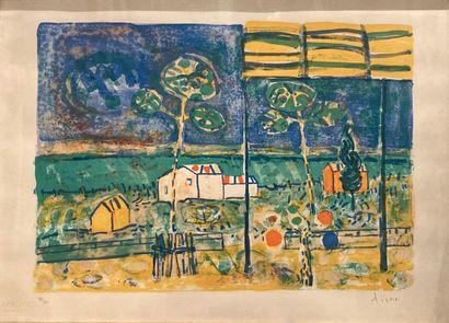 Paul AIZPIRI (1919-2016)  Paysage  Lithographie...