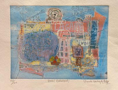 Shoichi HASEGAWA (né en 1929)  Paris (Restaurant)...